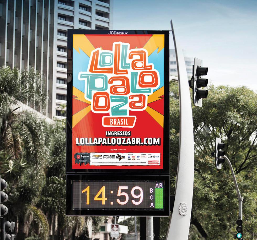 Lollapalooza Brasil DOOH 2018