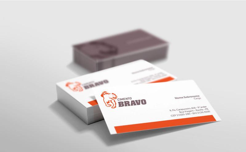 Cartão visitas Cimento Bravo