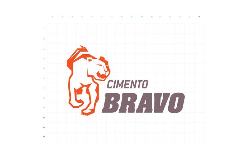 Cimento Bravo brand marca grid