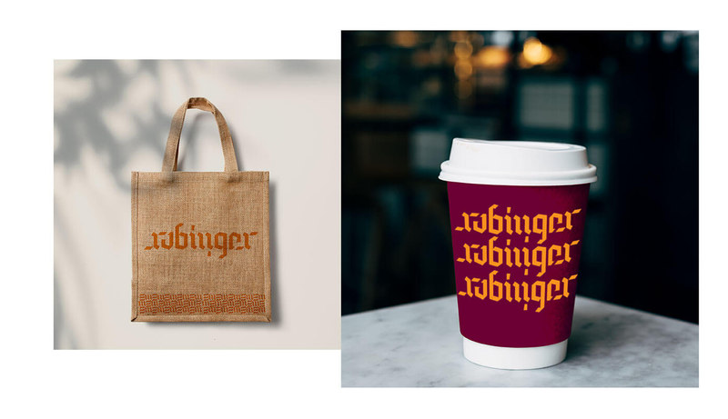 Bag and cup Rubinger Cafe