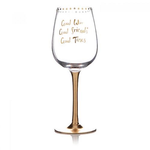 Gold Wine Glass Good Wine