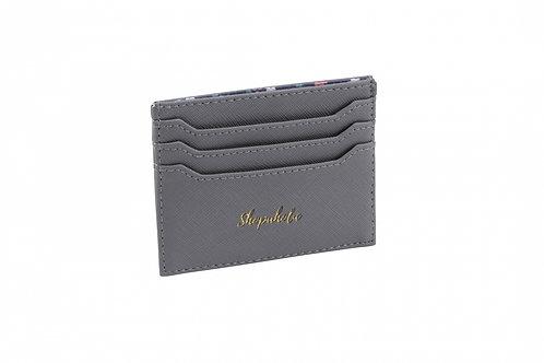 Grey 'Shopaholic' Card Holder