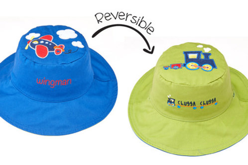 Plane - Train Reversible Sun Hat