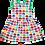 Organic Multi Elly Print Summer Dress