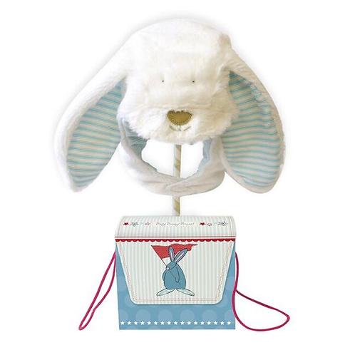 Rufus Fluffy Bunny Bonnet - Boy