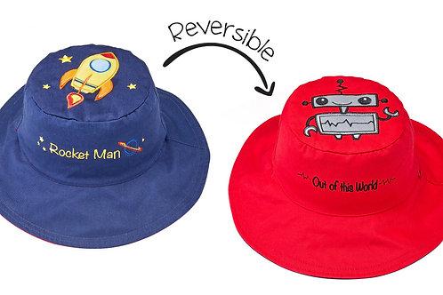 Spaceship - Robot Reversible Sun Hat