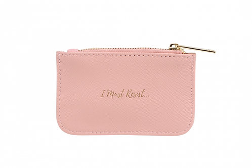 Coral 'I must Resist' Purse