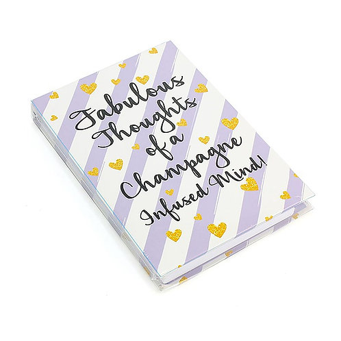 Wise Words Memo Pad & Pen - Champagne