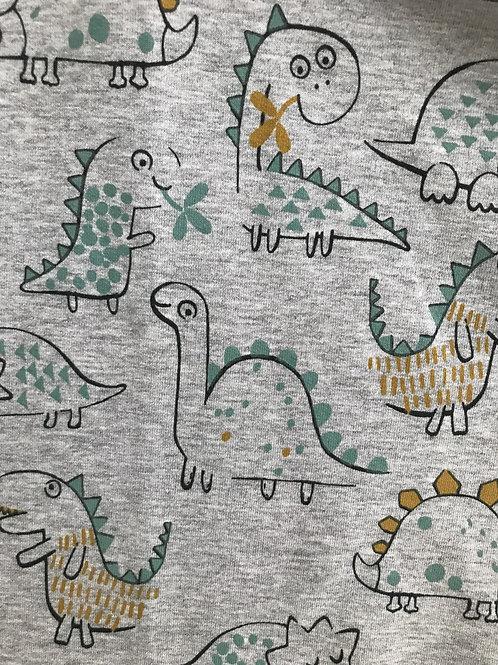 Grey Dinosaur Print fabric