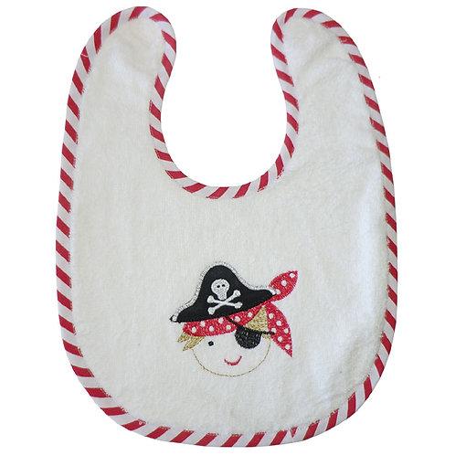 Pirate Cotton Bib