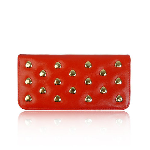 Red Heart Studded Purse