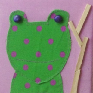 Small Frog Canvas (15 x 15 cm)
