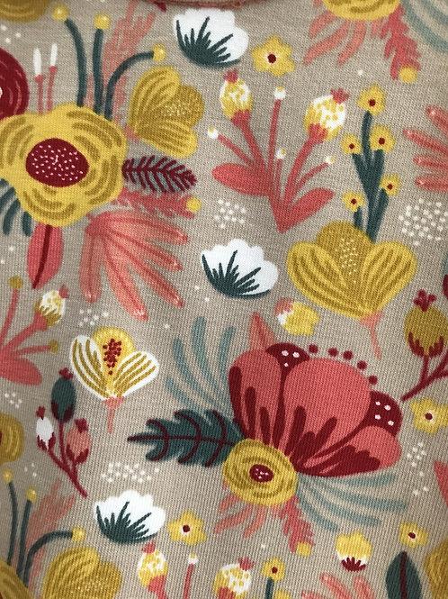 Handmade Sweatshirt - Grey Floral Print