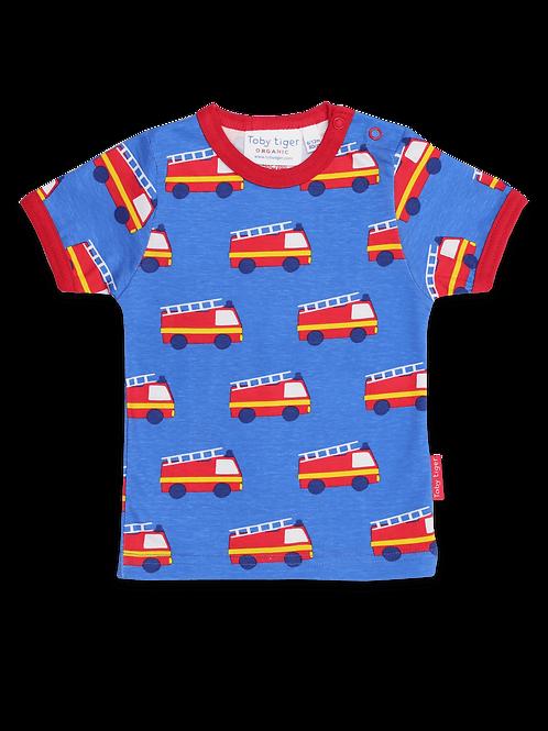 Organic Fire Engine Print T-Shirt