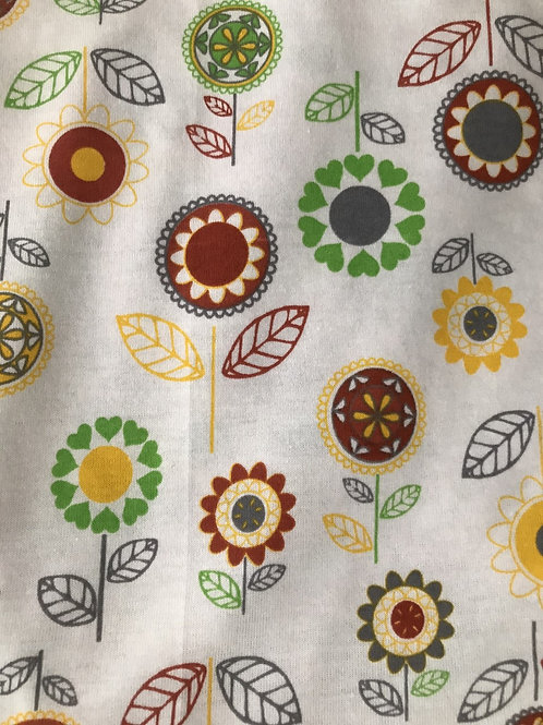 White Floral Fabric