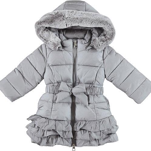 iDO long rain resistant nylon winter down jacket