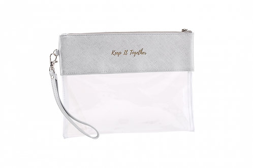 Keep It Together Travel Pouch (Silver/Clear)