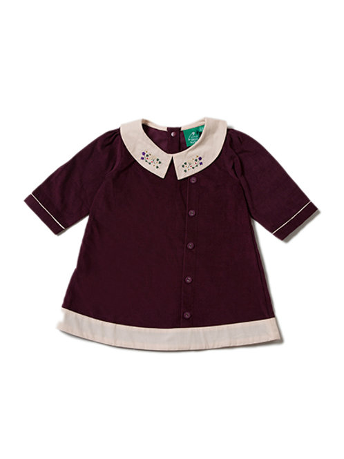 Little Green Radicals Plum Button Down Dress