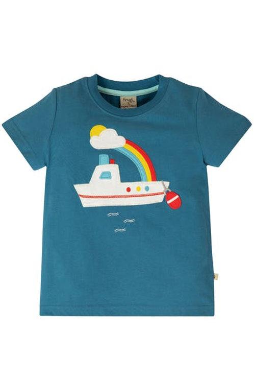 Frugi, Stanley Applique Top - Boat Front