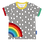 Organic Raindrop with Rainbow Applique T-Shirt