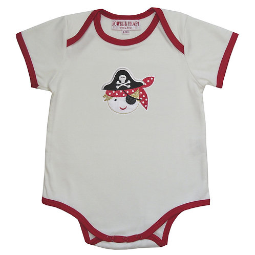 Pirate Embroidered Baby-grow