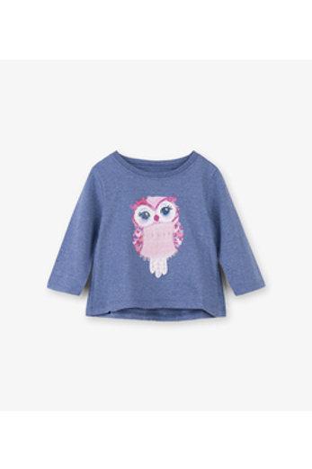 Adorable Owl Long Sleeve Top