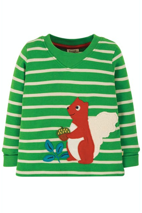 Frugi, Easy On Top - Squirrel Front