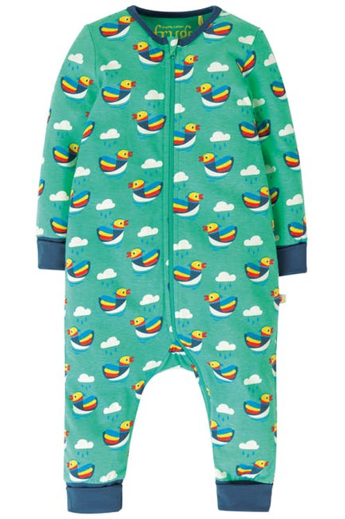 Summer Zip Babygrow - Mandarin Ducks