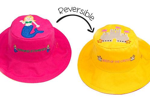 Mermaid/Sandcastle Reversible Sun Hat