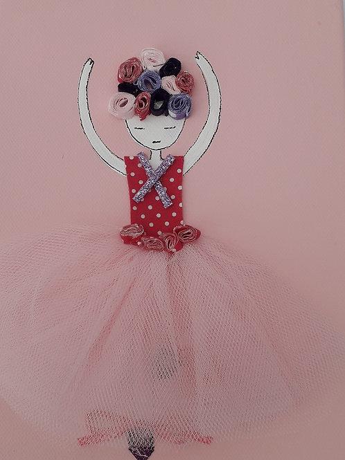 Ballerina Pink Canvas (18 x 24 cm)