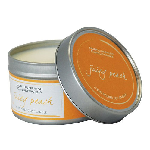 Juicy Peach Large Candle Tin