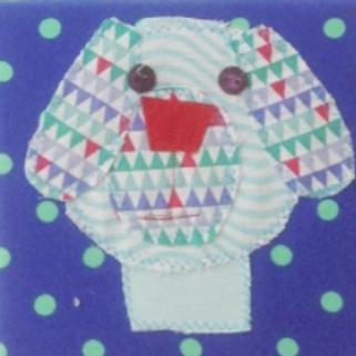 Small Dog Canvas (15 x 15 cm)