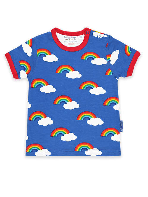 Organic Multi Rainbow Print T-Shirt