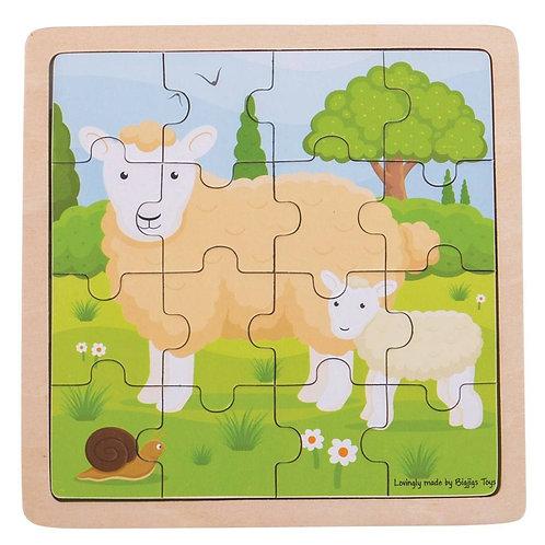 16 Piece Wooden Puzzle