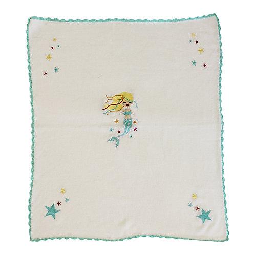 Mermaid Knitted Pram Blanket