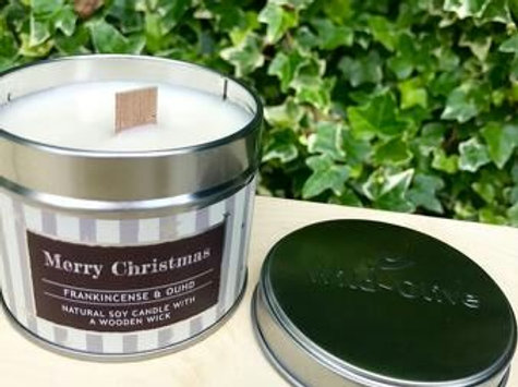 Wild Olive - Merry Christmas Candle Tin