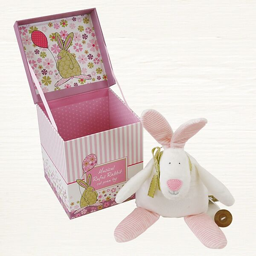 Musical Rufus Pull Cord Pram/Cot Toy - Girl (Box & Toy)