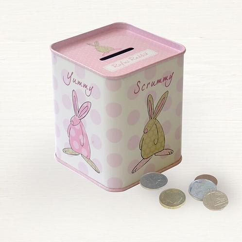 Rufus Rabbit Money Tin - Girl