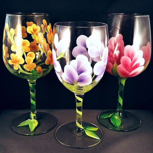 Angela Byrd Designs Wine Glass Painting Event