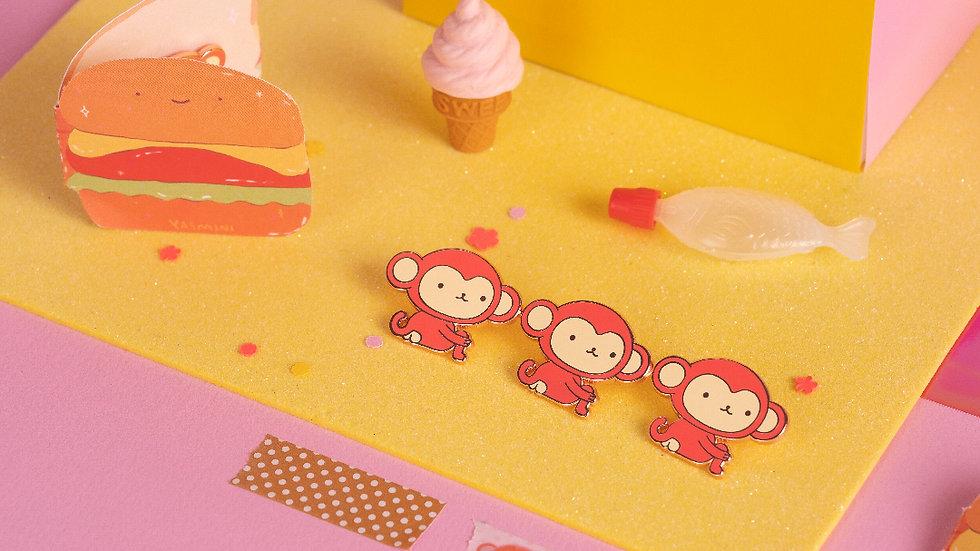 Monkey enamel pin