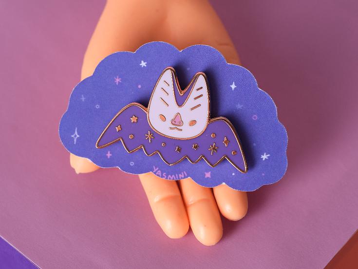 Bat enamel pin