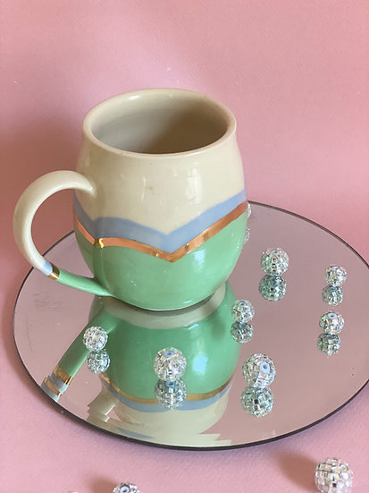 Bubble Mug in Mint and Sky