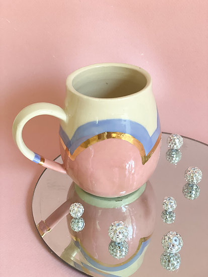 Bubble Mug in Pink and Lavender