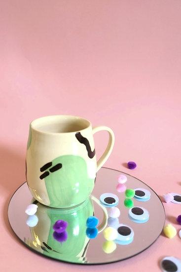 Curvy Mint Squiggle Mug