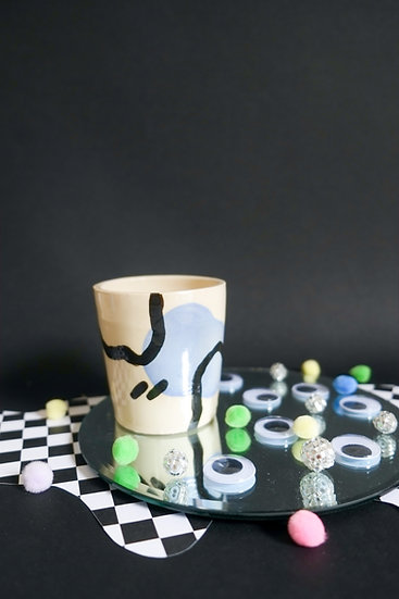 Lavender Squiggle Cup