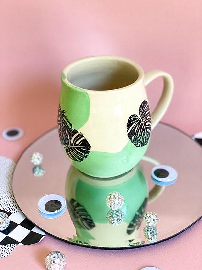 Curvy Monstera Mug