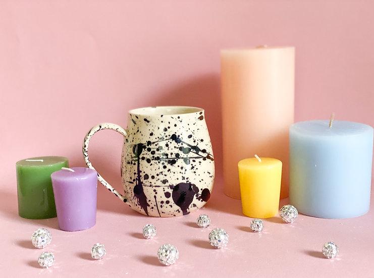 Curvy Splatter Mug