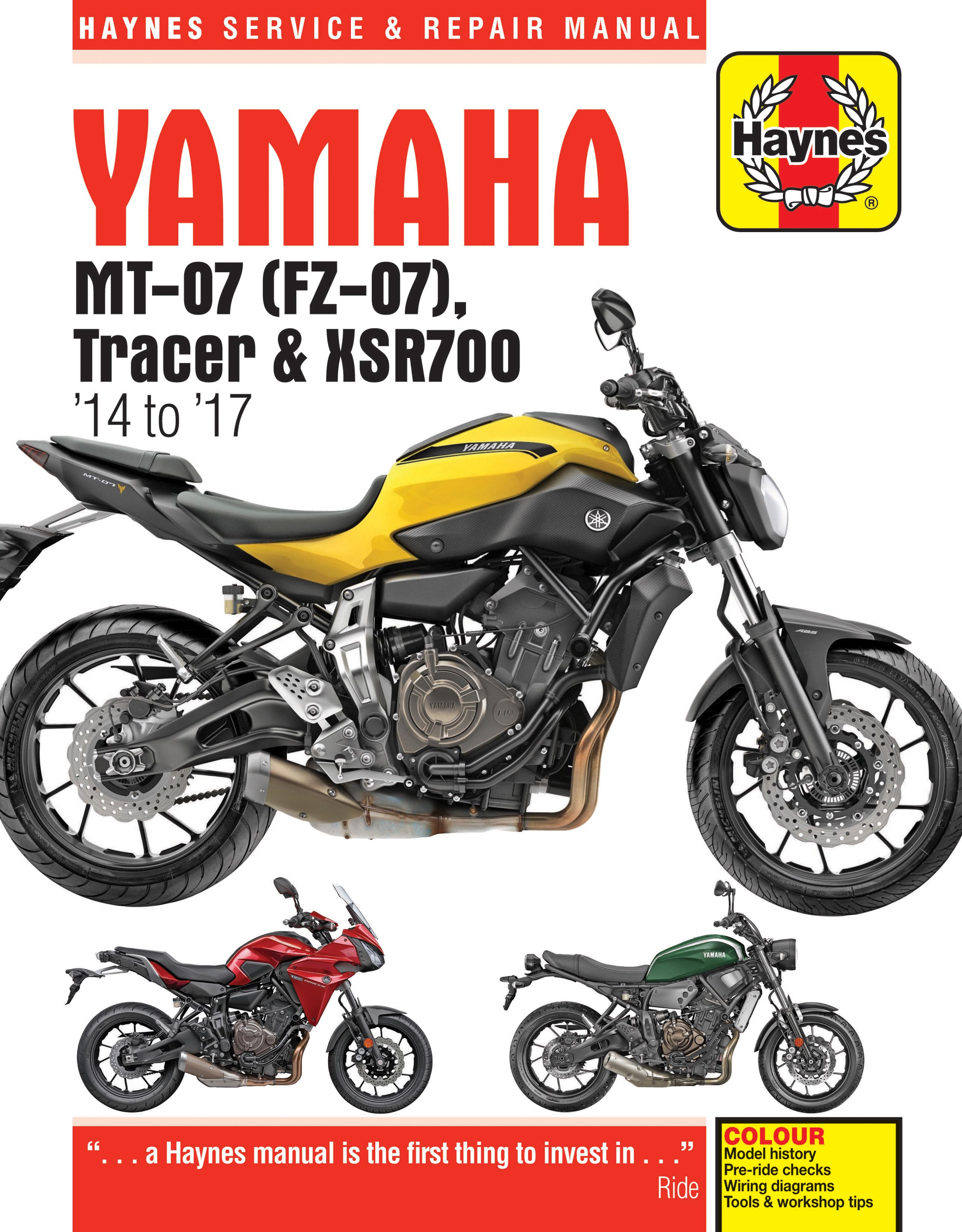 Haynes Launches Manual For The Yamaha Mt 07 Mt07 Uk Owners Club M7 Wiring