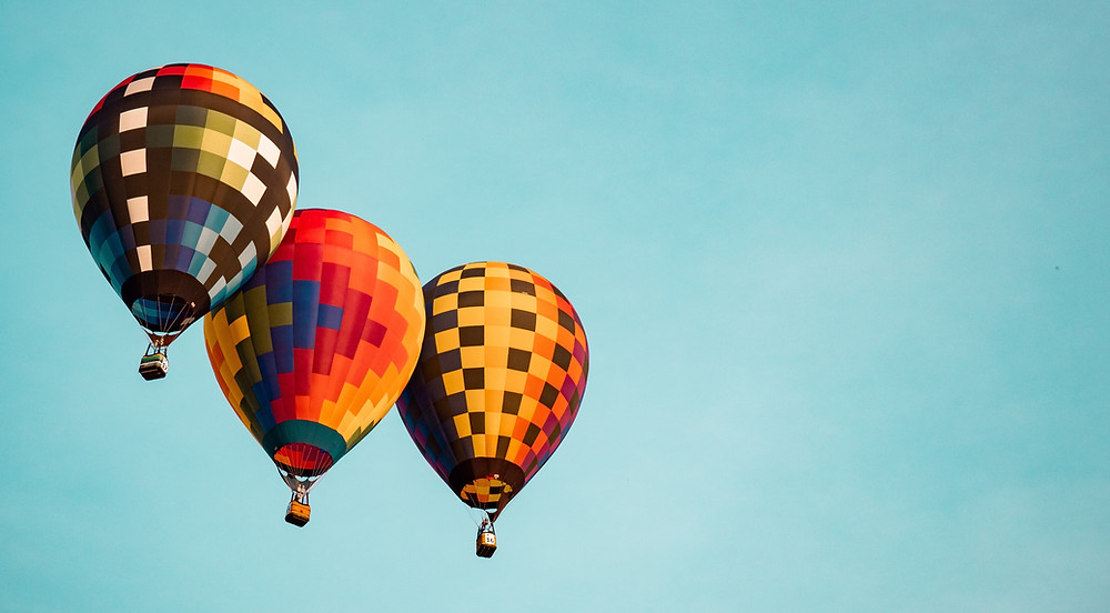 The nonprofit sector represented by three hot-air balloons