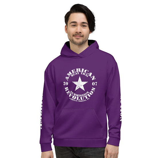 Unisex Grape Purple Classic American Revolution Two Tone Hoodie